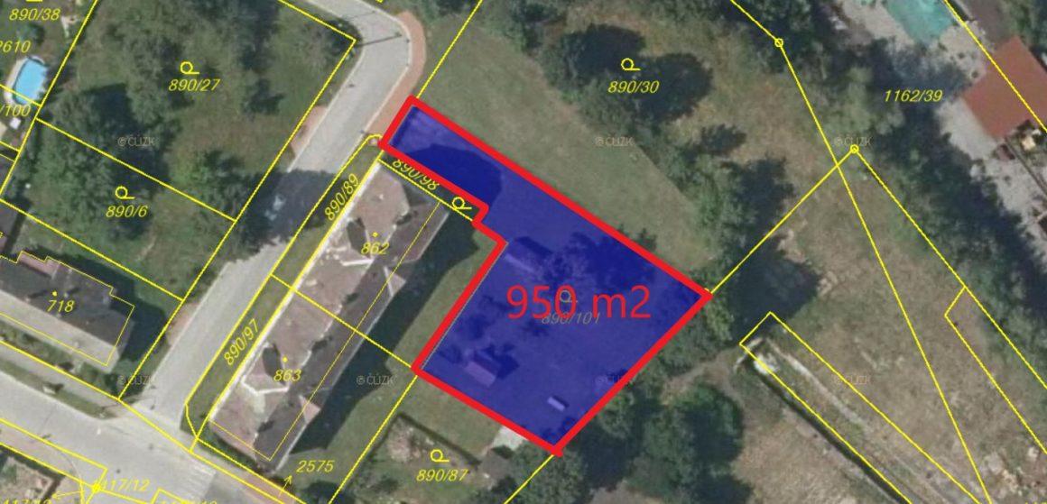 Prodej stavebního pozemku, 950 m2 – Chlumec nad Cidlinou