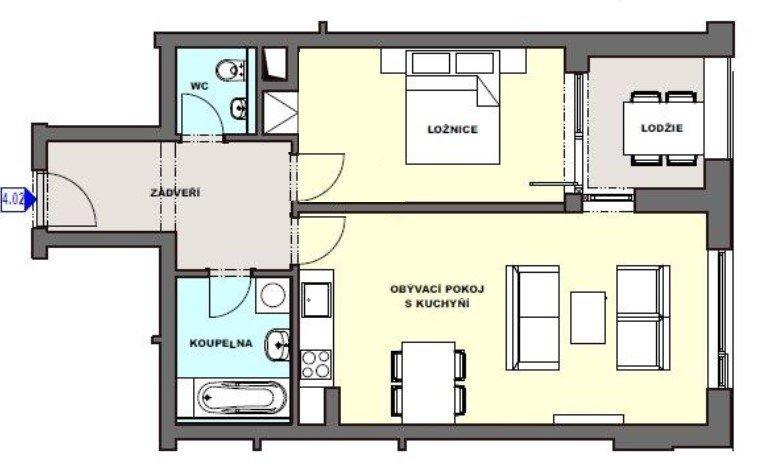 Pronájem novostavby 2+kk s lodžií, komorou a parkováním, 60 m2 – Svatojánská
