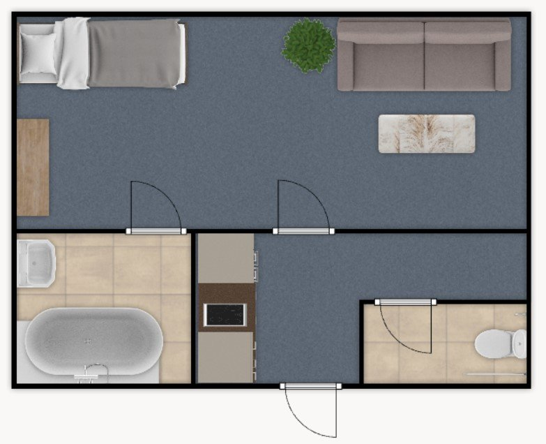 Prodej bytu 1+kk, 30 m2 – Bidlova