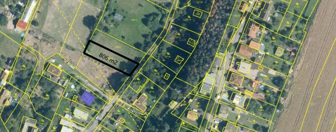 Prodej pozemku s projektem a stavebním povolením, 806 m2 – Konopáč